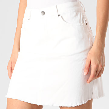 Only - Jupe Femme New Five Raw Hem Blanc