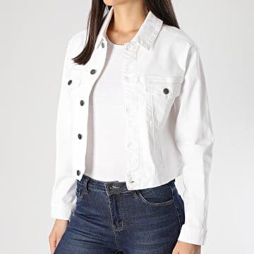Veste Jean Femme New Five Blanc