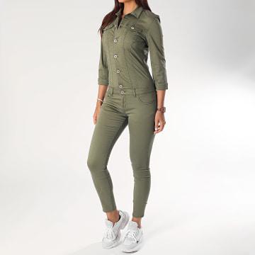 Combinaison Skinny Jean Femme Bria-Jolie Life Vert Kaki