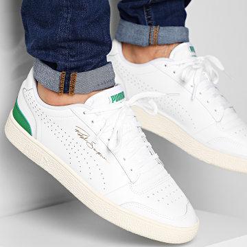 Puma - Baskets Ralph Sampson Lo Perf Soft 372395 Puma White Amazon Green Whisper White