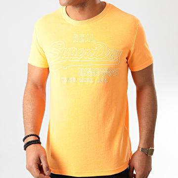 Superdry - Tee Shirt Outline Pop M1010133A Orange Fluo