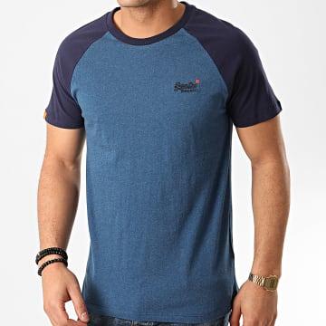 Tee Shirt OL Classic M1010140A Bleu Marine Chiné