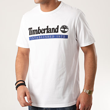 Timberland - Tee Shirt Established 1973 A22SC Blanc
