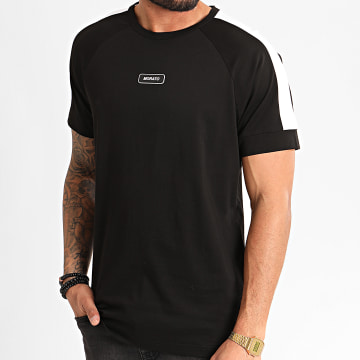 Tee Shirt A Bandes MMKS01704 Noir