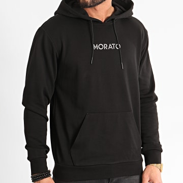 Antony Morato - Sweat Capuche MMFL00625 Noir Argenté
