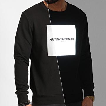 Antony Morato - Sweat Crewneck MMFL00644 Noir Réfléchissant