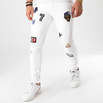 Black Needle - Jean Slim 3053 Blanc