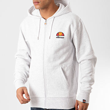Sweat Capuche Zippé Miletto SHE03314 Gris Chiné