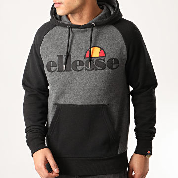 Sweat Capuche Taliamento SHE07394 Noir Gris Anthracite Chiné