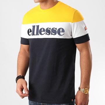 Ellesse - Tee Shirt Punto SHE08505 Bleu Marine Jaune