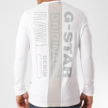 G-Star - Tee Shirt Manches Longues Block Originals D16409-336 Blanc
