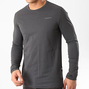G-Star - Tee Shirt Manches Longues Block Originals D16409-336 Gris Anthracite