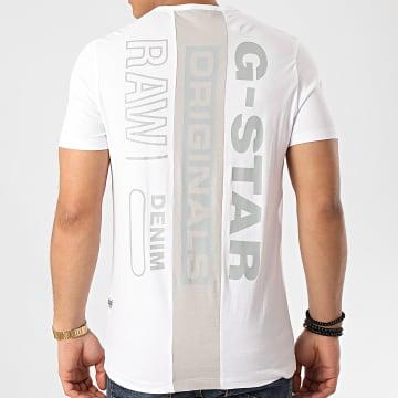 G-Star - Tee Shirt Block Originals D16425-336 Blanc