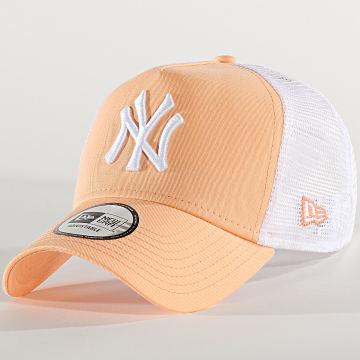 Casquette Trucker League Essential 11945645 New York Yankees Saumon Blanc