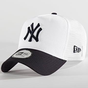 New Era - Casquette Trucker League Essential 80581000 New York Yankees Blanc Bleu Marine