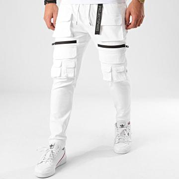 Project X - Pantalon Cargo 2040057 Blanc