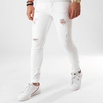 Jean Skinny T19920 Blanc