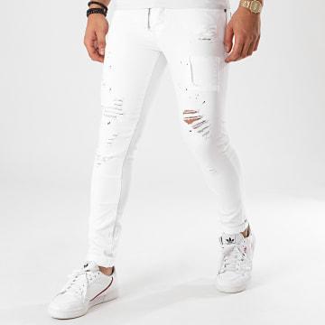 Jean Skinny T19910 Blanc