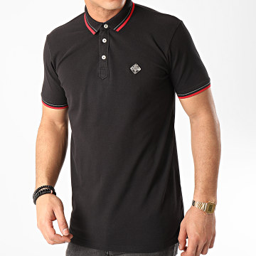 Schott NYC - Polo Manches Courtes Psharbours Noir