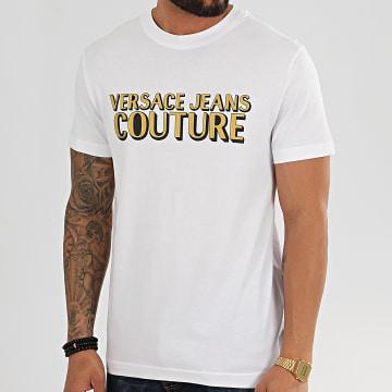 Versace Jeans Couture - Tee Shirt B3GVB7KA-30327 Blanc Doré