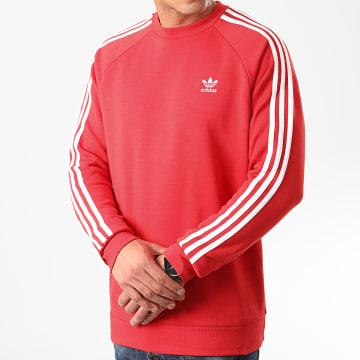 Adidas Originals - Sweat Crewneck A Bandes 3 Stripes FM3761 Rouge