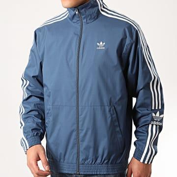 Adidas Originals - Veste Zippée A Bandes Ripstop FM9883 Bleu Marine