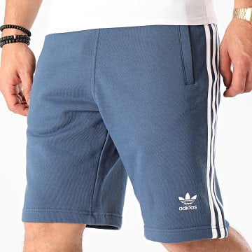 Short Jogging A Bandes 3 Stripes FM3806 Bleu Marine