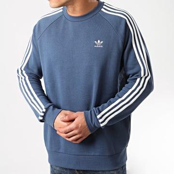 Adidas Originals - Sweat Crewneck A Bandes 3 Stripes FM3778 Bleu Marine