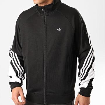Adidas Originals - Veste Zippée A Bandes 3 Stripes Wrap FM1525 Noir