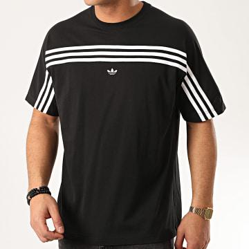 Adidas Originals - Tee Shirt A Bandes 3 Stripes FM1535 Noir