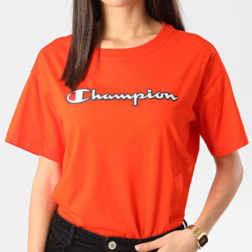 Champion - Tee Shirt Femme 112650 Orange