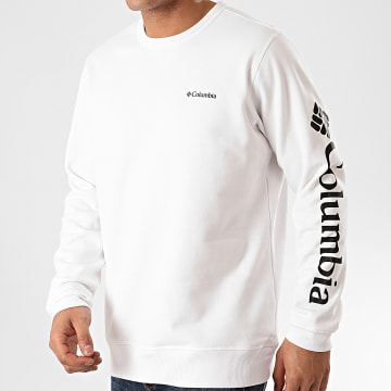 Columbia - Sweat Crewneck Logo Fleece Blanc