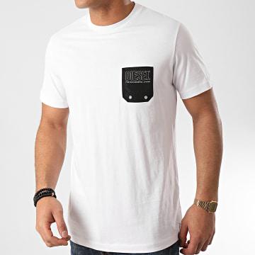 Diesel - Tee Shirt Poche Bmowt Diego 00SY99-0DAYD Blanc