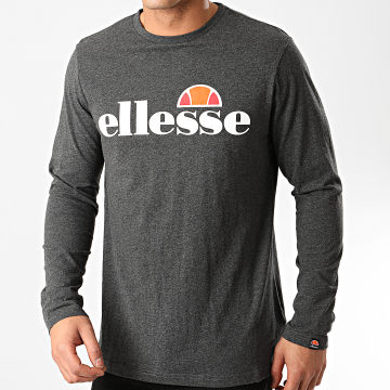 Ellesse - Tee Shirt Manches Longues Grazie SHC07406 Gris Anthracite Chiné