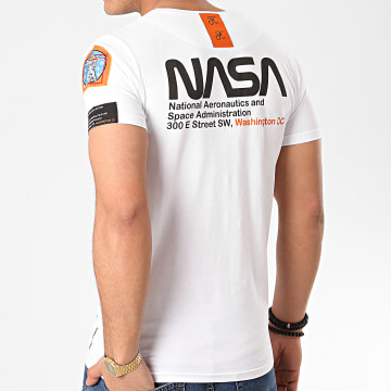 Final Club - Tee Shirt Space Exploration Avec Patch Et Broderie 355 Blanc