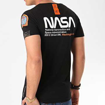 Final Club - Tee Shirt Space Exploration Avec Patch Et Broderie 356 Noir
