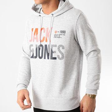 Jack And Jones - Sweat Capuche Foke Gris Chiné