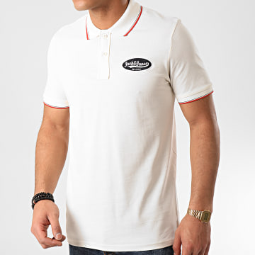 Jack And Jones - Polo Manches Courtes Raydon Crème
