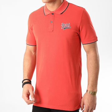 Jack And Jones - Polo Manches Courtes Raydon Brique