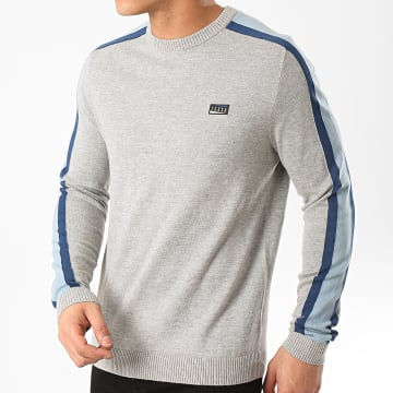Jack And Jones - Pull A Bandes Badge Gris Chiné