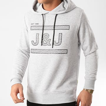 Jack And Jones - Sweat Capuche Marlon Gris Chiné