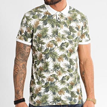 Polo Manches Courtes F1061 Blanc Floral