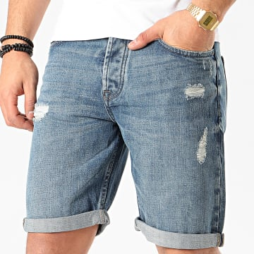 Only And Sons - Short Jean Avi Loose Bleu Denim