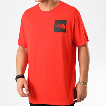 The North Face - Tee Shirt Fine CEQ5 Rouge