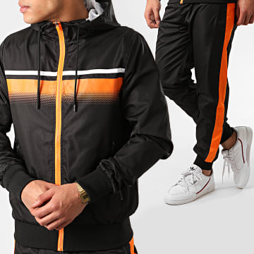 Zayne Paris  - Ensemble De Survêtement TX-501 Noir Orange