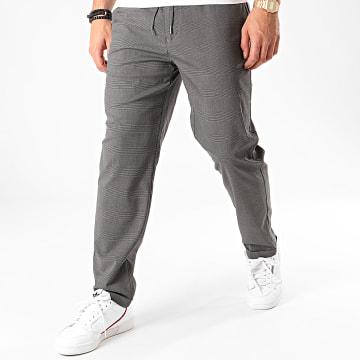 Pantalon A Carreaux Rotheo1 Gris Anthracite