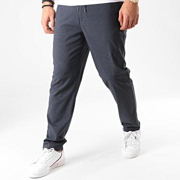 Pantalon A Carreaux Rotheo1 Bleu Marine