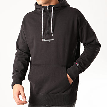 Champion - Sweat Col Zippé Capuche 214196 Noir
