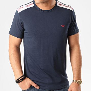 Tee Shirt A Bandes 211819-0P462 Bleu Marine