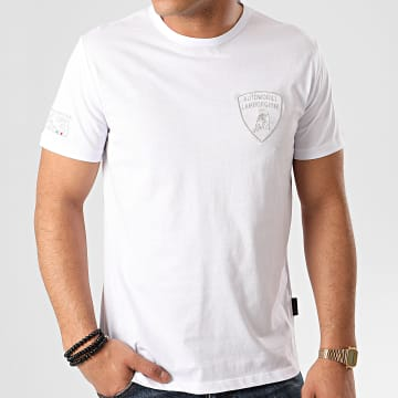 Lamborghini - Tee Shirt B3XVB7T4-30260 Blanc Argenté